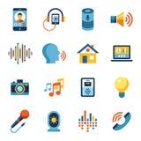 Sistema del icono de la interfaz de usuario de la voz libre illustration