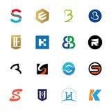 Sistema del icono de la letra del logotipo Foto de archivo libre de regalías