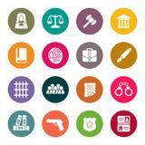 Sistema del icono de la ley Foto de archivo