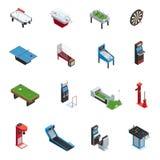 Sistema del icono de la máquina de juego de los juegos de tabla Foto de archivo libre de regalías