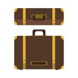 Sistema del icono de la maleta Imagenes de archivo