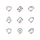 Sistema del icono de la marca de cotejo libre illustration
