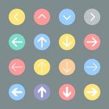 Sistema del icono de la muestra de la flecha Imagenes de archivo