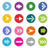 Sistema del icono de la muestra de la flecha stock de ilustración
