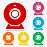 Sistema del icono de la muestra del webcam Foto de archivo libre de regalías