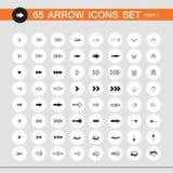 sistema del icono de la muestra de 65 flechas Parte 1 libre illustration