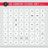 sistema del icono de la muestra de 65 flechas Parte 3 libre illustration
