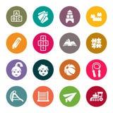 Sistema del icono de la niñez Imagen de archivo libre de regalías