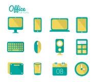 Sistema del icono de la oficina. Fotografía de archivo libre de regalías