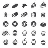 Sistema del icono de la panadería Imagen de archivo libre de regalías