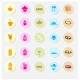 Sistema del icono de la panadería Foto de archivo libre de regalías