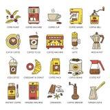 Sistema del icono de la panadería Fotos de archivo libres de regalías