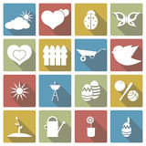 Sistema del icono de la primavera Ilustración del vector Fotos de archivo libres de regalías