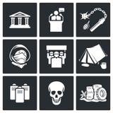 Sistema del icono de la protesta Imagenes de archivo