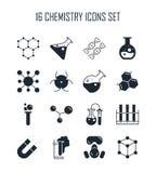 Sistema del icono de la química Imágenes de archivo libres de regalías