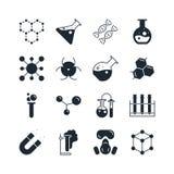 Sistema del icono de la química Fotografía de archivo libre de regalías
