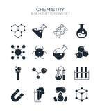 Sistema del icono de la química Fotos de archivo