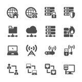 Sistema del icono de la red, vector eps10 stock de ilustración