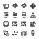 Sistema del icono de la red y del servidor, vector eps10