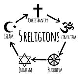 Sistema del icono de la religión Foto de archivo libre de regalías