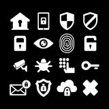 Sistema del icono de la seguridad imágenes de archivo libres de regalías