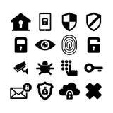 Sistema del icono de la seguridad imagen de archivo