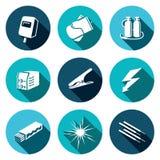 Sistema del icono de la soldadura Fotos de archivo