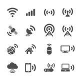 Sistema del icono de la tecnología inalámbrica, vector eps10 stock de ilustración
