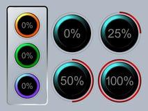 Sistema del icono de la transferencia directa Imágenes de archivo libres de regalías