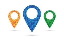 Sistema del icono de la ubicación Imágenes de archivo libres de regalías