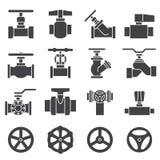 Sistema del icono de la válvula y de los golpecitos Imágenes de archivo libres de regalías