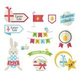 Sistema del icono de la venta de Pascua libre illustration