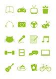 Sistema del icono de las aficiones Foto de archivo