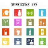 Sistema del icono de las bebidas Ilustración del Vector