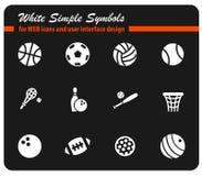 Sistema del icono de las bolas del deporte Fotografía de archivo libre de regalías