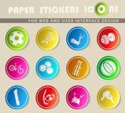 Sistema del icono de las bolas del deporte Imagen de archivo