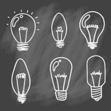 Sistema del icono de las bombillas concepto de inspiración grande de las ideas, innovati Fotografía de archivo libre de regalías