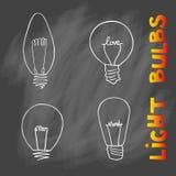 Sistema del icono de las bombillas concepto de inspiración grande de las ideas, innovati Imágenes de archivo libres de regalías