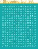 Sistema del icono de las compras Fotografía de archivo libre de regalías
