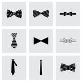 Sistema del icono de las corbatas de lazo del vector Fotografía de archivo