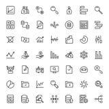 Sistema del icono de las estadísticas Foto de archivo libre de regalías