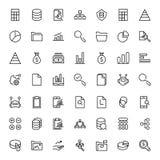 Sistema del icono de las estadísticas Fotografía de archivo libre de regalías