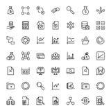 Sistema del icono de las estadísticas Fotografía de archivo