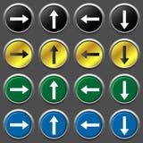 Sistema del icono de las flechas Imagenes de archivo
