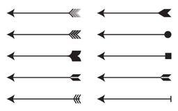 Sistema del icono de las flechas Foto de archivo libre de regalías