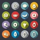 Sistema del icono de las frutas Ilustración del vector stock de ilustración