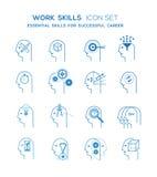 Sistema del icono de las habilidades del trabajo Foto de archivo libre de regalías