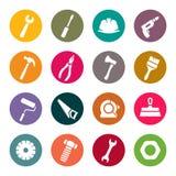 Sistema del icono de las herramientas Fotografía de archivo libre de regalías