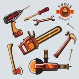 Sistema del icono de las herramientas Imágenes de archivo libres de regalías