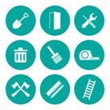 Sistema del icono de las herramientas de funcionamiento Imagen de archivo